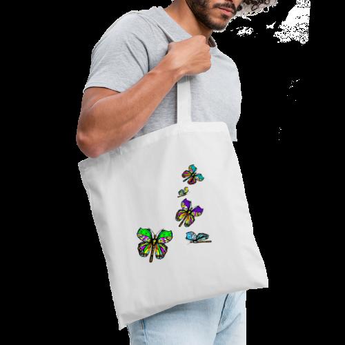 Schmetterlinge,Butterflies, T-shirt, - Stoffbeutel