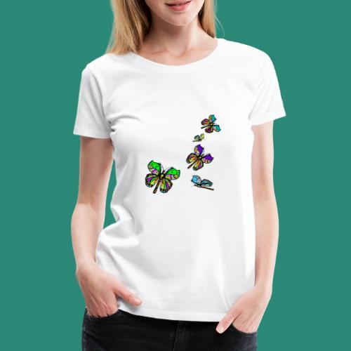 Schmetterlinge,Butterflies, T-shirt, - Frauen Premium T-Shirt