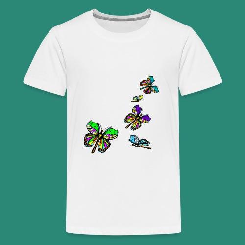 Schmetterlinge,Butterflies, T-shirt, - Teenager Premium T-Shirt