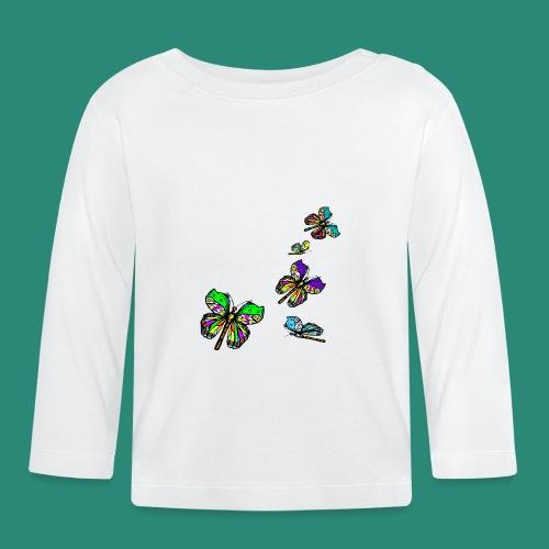 Schmetterlinge,Butterflies, T-shirt, - Baby Langarmshirt
