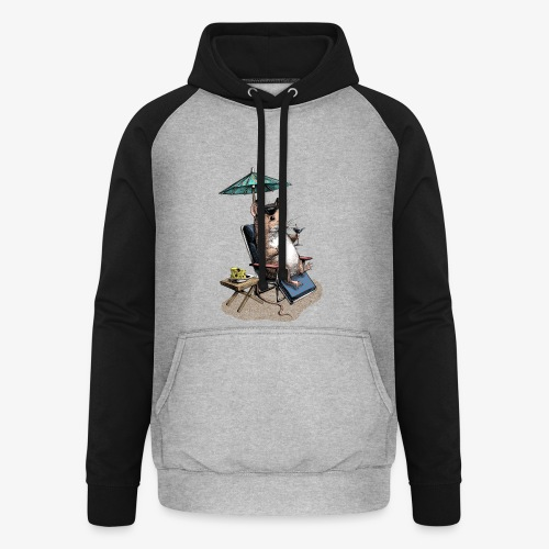 Mouse Cocktail Umbrella - Unisex Baseball Hoodie