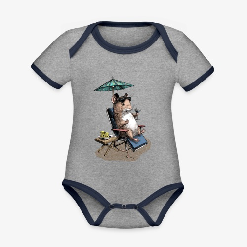 Mouse Cocktail Umbrella - Organic Baby Contrasting Bodysuit