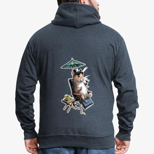 Mouse Cocktail Umbrella - Men's Premium Hooded Jacket