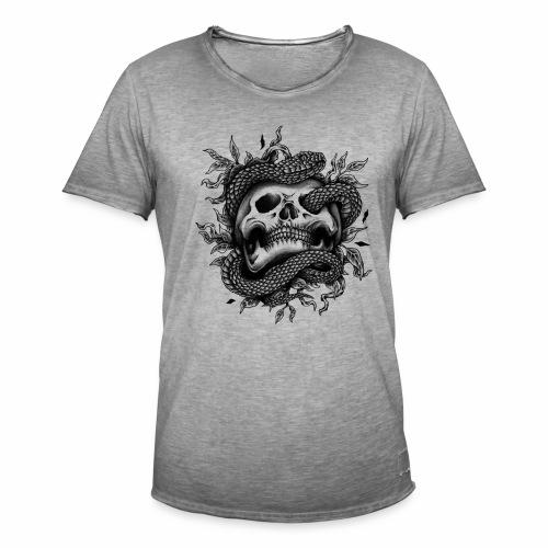 Skull Snake - Männer Vintage T-Shirt