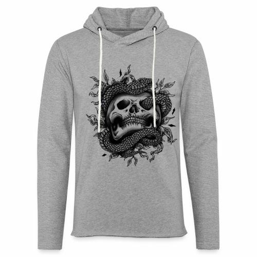 Skull Snake - Leichtes Kapuzensweatshirt Unisex