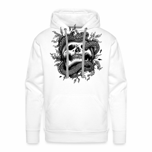 Skull Snake - Männer Premium Hoodie