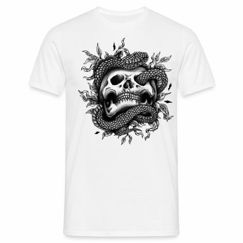 Skull Snake - Männer T-Shirt