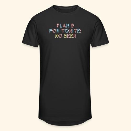 lustiges Bier-Shirt Plan B - Männer Urban Longshirt
