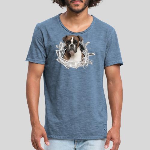 Boxer im Glas Loch - Männer Vintage T-Shirt