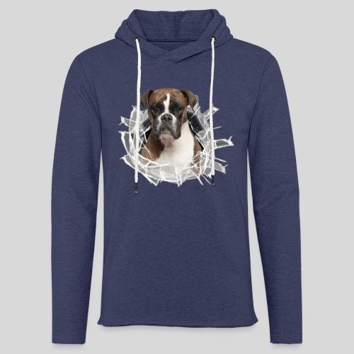 Boxer im Glas Loch - Leichtes Kapuzensweatshirt Unisex
