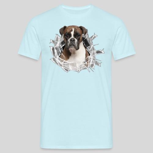 Boxer im Glas Loch - Männer T-Shirt