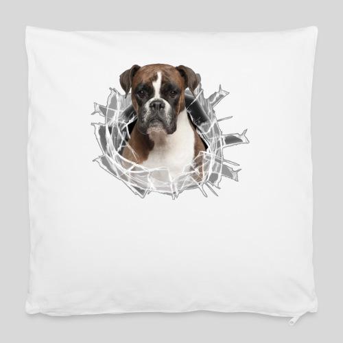 Boxer im Glas Loch - Kissenbezug 40 x 40 cm