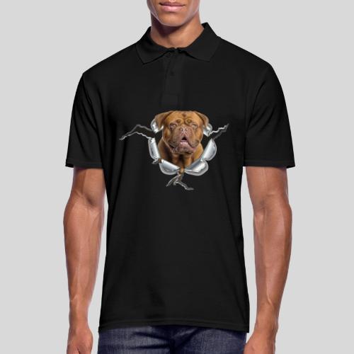 Bordeaux Dogge im Metall Loch - Männer Poloshirt