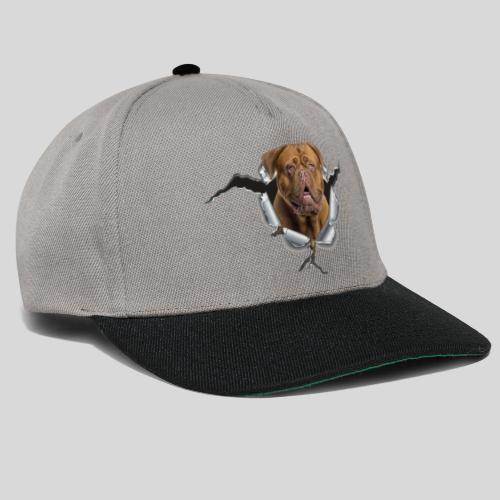 Bordeaux Dogge im Metall Loch - Snapback Cap