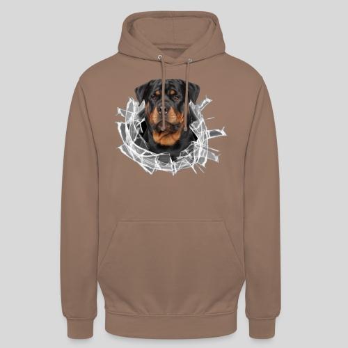 Rottweiler im Glas Loch - Unisex Hoodie