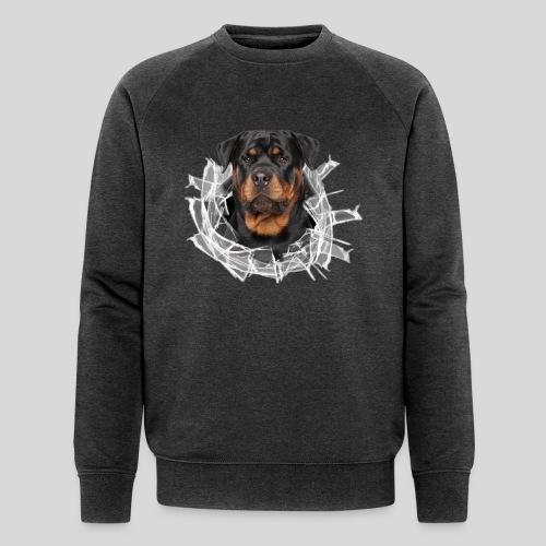 Rottweiler im Glas Loch - Männer Bio-Sweatshirt von Stanley & Stella