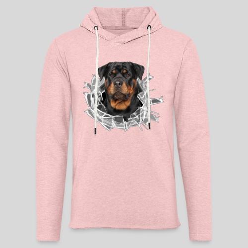 Rottweiler im Glas Loch - Leichtes Kapuzensweatshirt Unisex