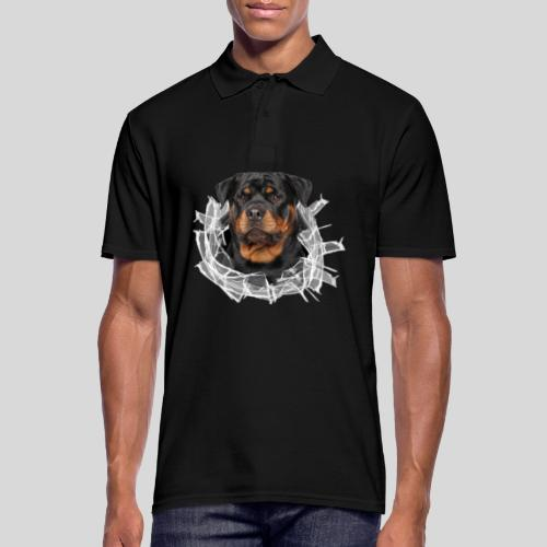 Rottweiler im Glas Loch - Männer Poloshirt