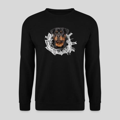 Rottweiler im Glas Loch - Männer Pullover