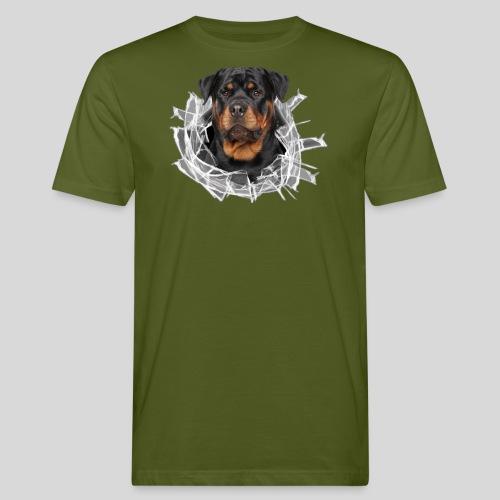 Rottweiler im Glas Loch - Männer Bio-T-Shirt