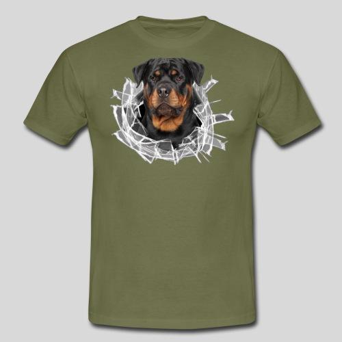 Rottweiler im Glas Loch - Männer T-Shirt