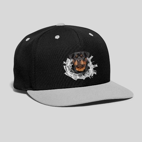 Rottweiler im Glas Loch - Kontrast Snapback Cap
