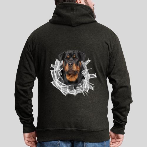 Rottweiler im Glas Loch - Männer Premium Kapuzenjacke