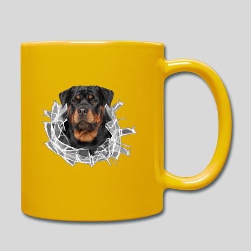 Rottweiler im Glas Loch - Tasse einfarbig