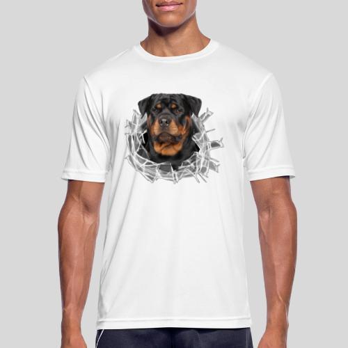 Rottweiler im Glas Loch - Männer T-Shirt atmungsaktiv