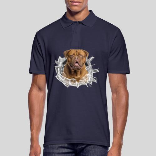 Bordeaux Dogge im Glas Loch - Männer Poloshirt