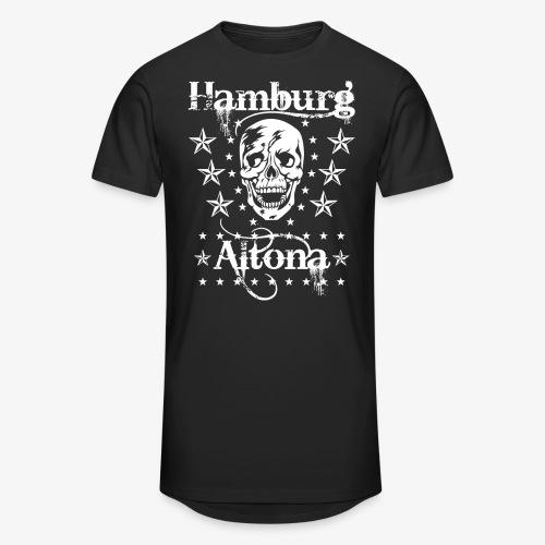 Hamburg Stadtteil Altona Skull Totenkopf 48 - Männer Urban Longshirt