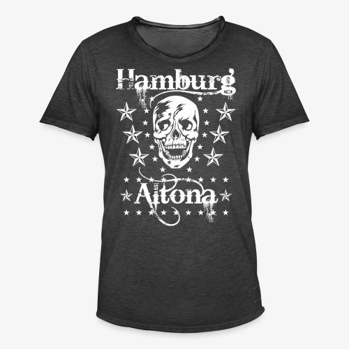 Hamburg Stadtteil Altona Skull Totenkopf 48 - Männer Vintage T-Shirt