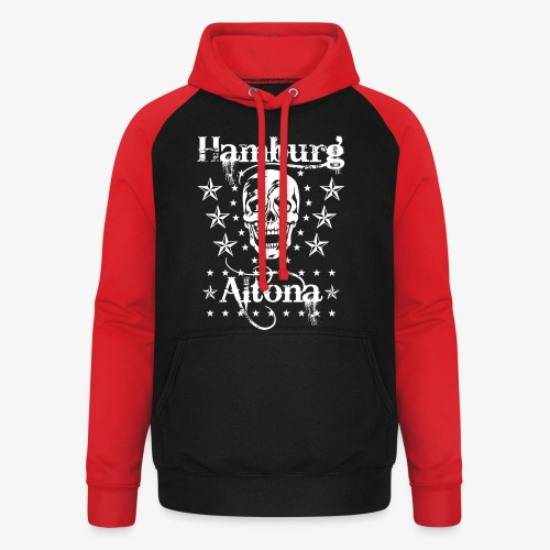Hamburg Stadtteil Altona Skull Totenkopf 48 - Unisex Baseball Hoodie