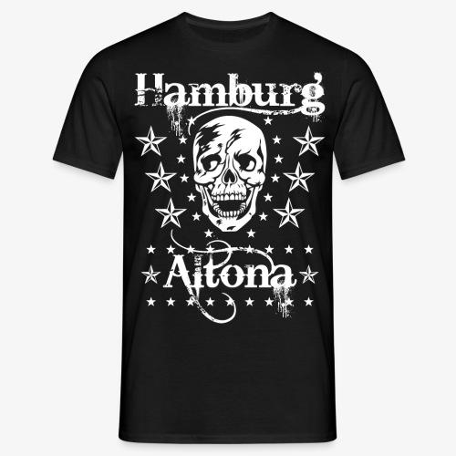 Hamburg Stadtteil Altona Skull Totenkopf 48 - Männer T-Shirt