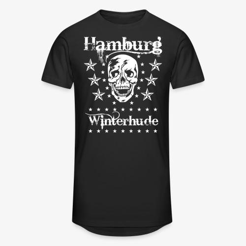 Hamburg Stadtteil Winterhude Skull Totenkopf T-Shirt 49 - Männer Urban Longshirt