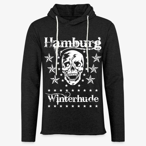Hamburg Stadtteil Winterhude Skull Totenkopf T-Shirt 49 - Leichtes Kapuzensweatshirt Unisex