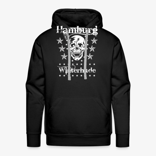 Hamburg Stadtteil Winterhude Skull Totenkopf T-Shirt 49 - Männer Premium Hoodie