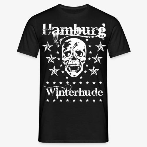 Hamburg Stadtteil Winterhude Skull Totenkopf T-Shirt 49 - Männer T-Shirt