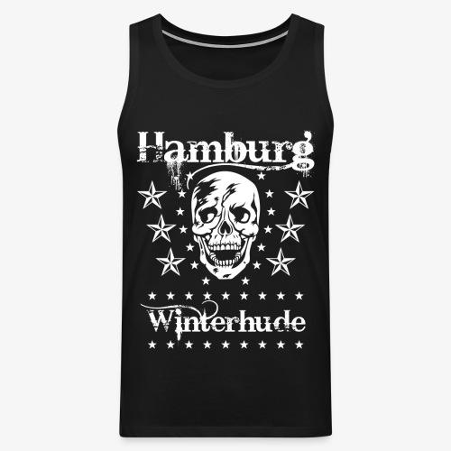 Hamburg Stadtteil Winterhude Skull Totenkopf T-Shirt 49 - Männer Premium Tank Top