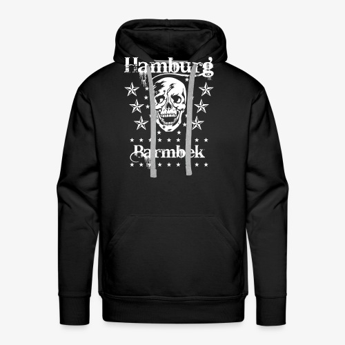 Hamburg Stadtteil Barmbek Skull Totenkopf T-Shirt 51 - Männer Premium Hoodie