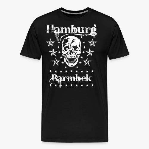Hamburg Stadtteil Barmbek Skull Totenkopf T-Shirt 51 - Männer Premium T-Shirt