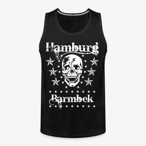 Hamburg Stadtteil Barmbek Skull Totenkopf T-Shirt 51 - Männer Premium Tank Top