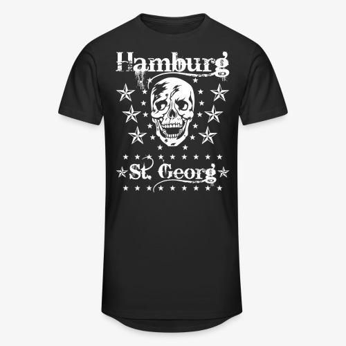 Hamburg Stadtteile Skull Totenkopf T-shirt 53 - Männer Urban Longshirt