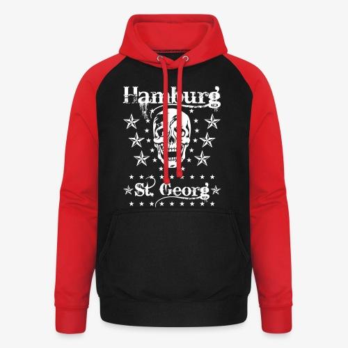 Hamburg Stadtteile Skull Totenkopf T-shirt 53 - Unisex Baseball Hoodie