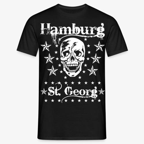 Hamburg Stadtteile Skull Totenkopf T-shirt 53 - Männer T-Shirt