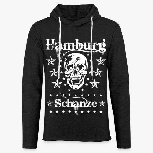 Hamburg Stadtteil Schanze Skull Totenkopf 54 - Leichtes Kapuzensweatshirt Unisex