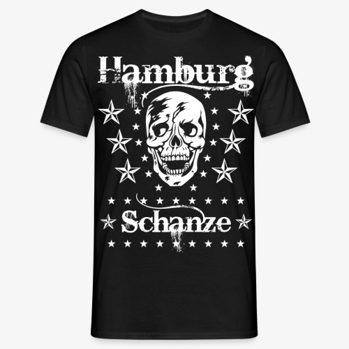 Hamburg Stadtteil Schanze Skull Totenkopf 54 - Männer T-Shirt
