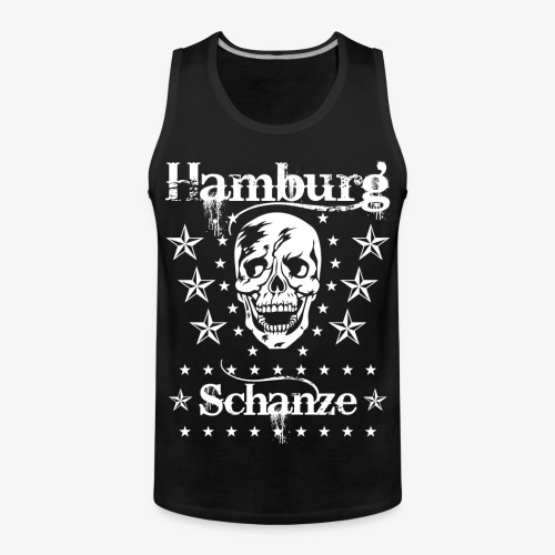 Hamburg Stadtteil Schanze Skull Totenkopf 54 - Männer Premium Tank Top