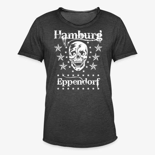Hamburg Stadtteil Eppendorf Skull Totenkopf T-Shirt 57 - Männer Vintage T-Shirt