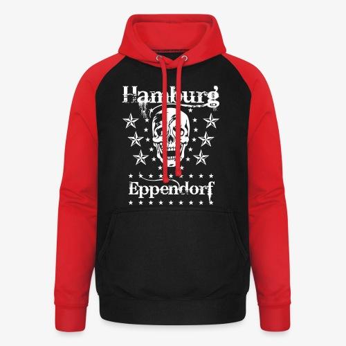 Hamburg Stadtteil Eppendorf Skull Totenkopf T-Shirt 57 - Unisex Baseball Hoodie